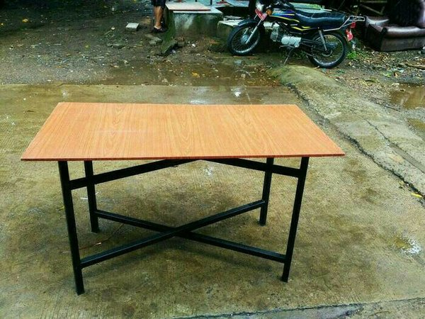 Meja Lipat Meja Makan Lesehan untuk Jualan Bazar Pameran Kayu Murah 90x50x70