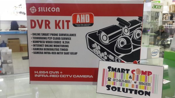 CCTV SILICON DVR 4CH + CAMERA