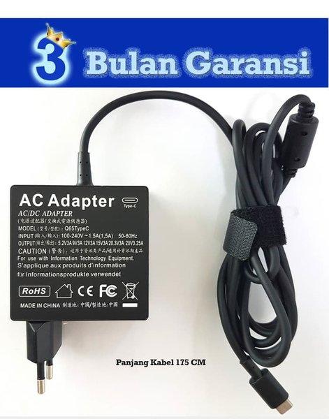 Aksesoris Laptop Charger Adaptor USB C 65W HP Pro X2 612 G2- Elitebook X2 - x360 1030