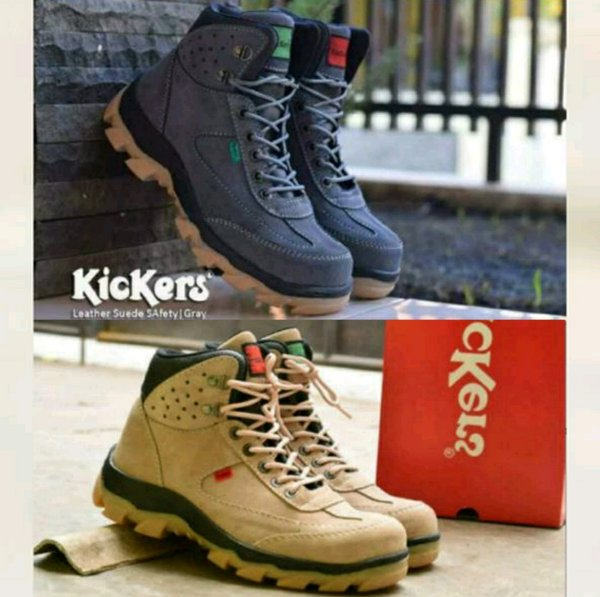 sepatu kulit kickers delta boots safety tracking