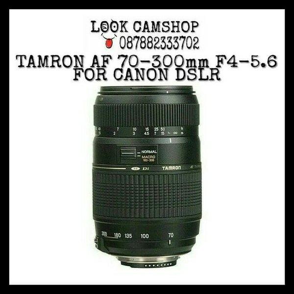 LENSA KAMERA DSLR TAMRON AF 70-300mm 70-300 F4-5.6 DI LD MACRO FOR SLR CANON 1100D 1200D 1300D 550D 600D 650D 700D 750D 760D 800D 50D 60D 70D 7D 6D 5D