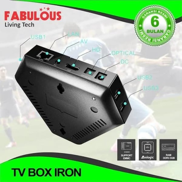 TV BOX IRON RAM 3GB ANDROID 7.1