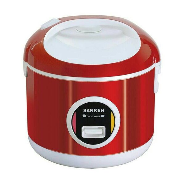 Sanken Rice Cooker 1 Liter SJ-200 Stainless Steel 6 In 1