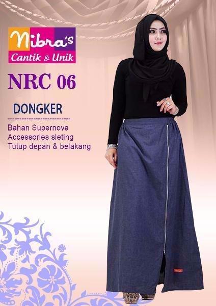 MURAH Celana Panjang Kulot Murah Nibras NRC 06 Dongker ORIGINAL Rok Panjang