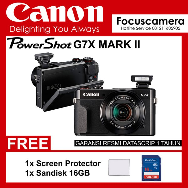 Promo Kamera Canon Powershot G7X Mark Ii Resmi - Screen Guard- Sandisk 16Gb