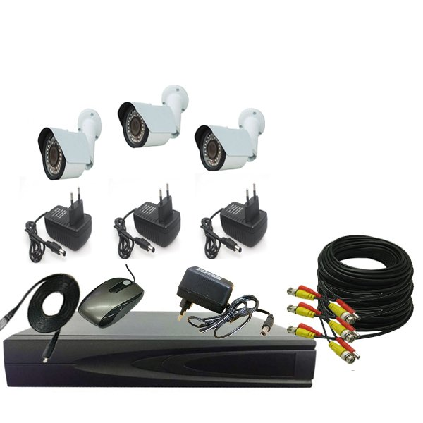 PROMO PAKET CCTV 3 CAMERA OUT 1.3mp - DVR 4CHANEL
