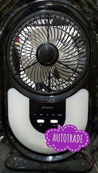 Promo Krisbow Emergency Box Fan With 40 Led Kipas Angin Lampu Darurat 7