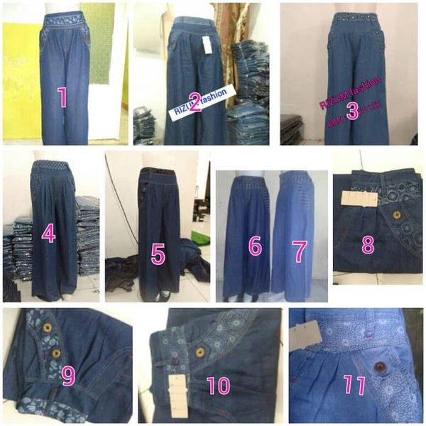 Kulot Jeans Celana Jeans Wanita Uk. M-XXL