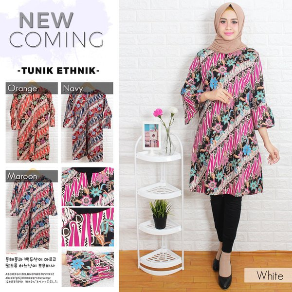 tunik batik dress batik fashion muslim wanita