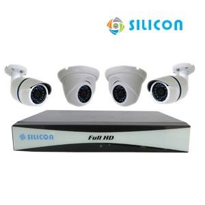 PAKET CCTV SILICON AHD 4CH 4 CAMERA RS-233302B