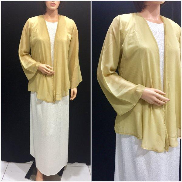 Busana Muslim Wanita 1 Set Outer. Baju Muslim Setelan Modern. Gamis Fashion Wanita