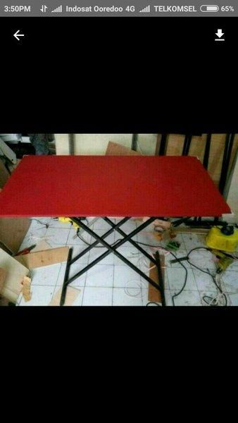 Meja Lipat Meja Makan Lesehan untuk Jualan Bazar Pameran Kayu Murah 50x50x70cm