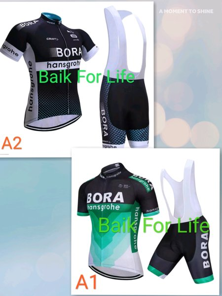 Jersey Set Bora Hansgrohe Roadbike not team sky bmc tink off pinarello giant merida trek specialized bianchi cervelo cannondale sepeda balap road bike