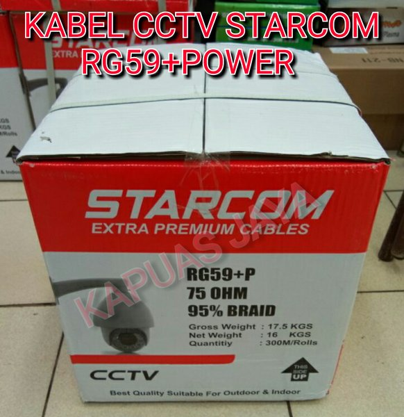 KABEL CCTV STARCOM RG59 Plus POWER EXTRA PREMIUM KABEL 300METER