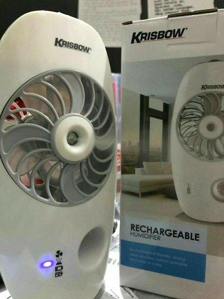 kipas angin mini fan rechargeable krisbow termurah