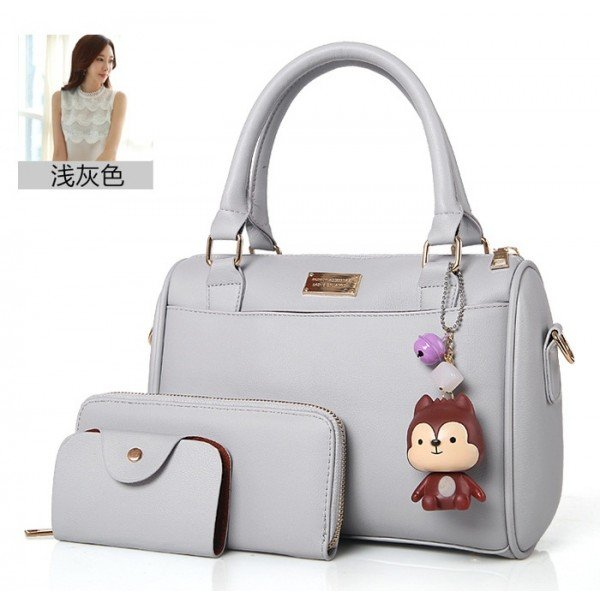TAS SANDANG HAND BAG GREY LIKE ELIZABETH HUSH PUPPIES WANITA GRAY 2IN1