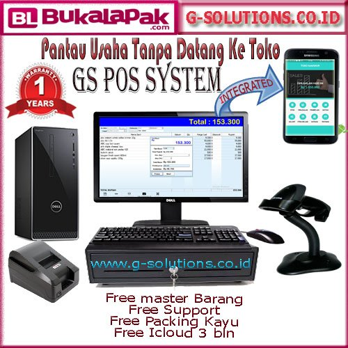 Paket Komputer Kasir Full Set -Built up Pc - qualitas terjamin