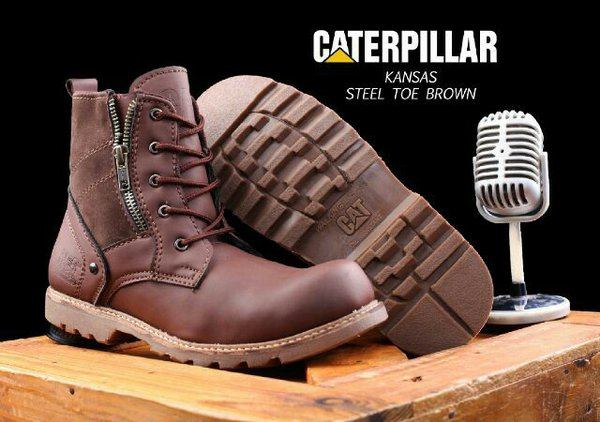SEPATU BOOTS CATERPILLAR KANSAS ORIGINAL BOOTS SAFETY