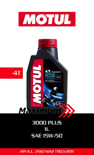 Motul 3000 Plus 1L 15W50 - Motul Oil 3000 Plus 1L 15W50 - Oli Motul 3000 Plus 1000 cc 15W50