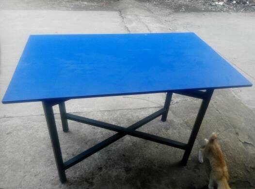 Meja Lipat Meja Makan Lesehan untuk Jualan Bazar Pameran Kayu Murah 80x40x70