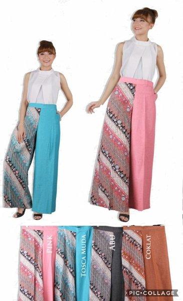 Celana Kulot Kombinasi Batik 3R