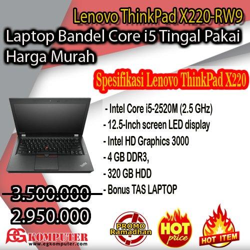 Laptop Bandel Core i5 Lenovo ThinkPad X220-RW9 GRATIS ONGKIR Jateng DIY & DKI kirim Pake TIKI