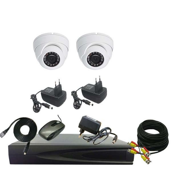 PROMO PAKET CCTV 2 CAMERA IN 1.3mp - DVR 4CHANEL