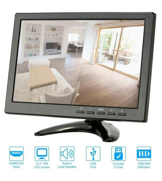 Mini LED Monitor 10 inch Input HDMI VGA BNC RCA