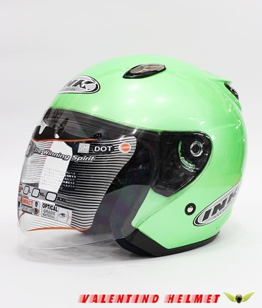 Grosir Helm Half Face Ink Centro Jet Apple Green Limited