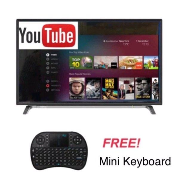 TOSHIBA LED SMART TV 32L5650 - 32 inch PROMO FREE MINI KEYBOARD