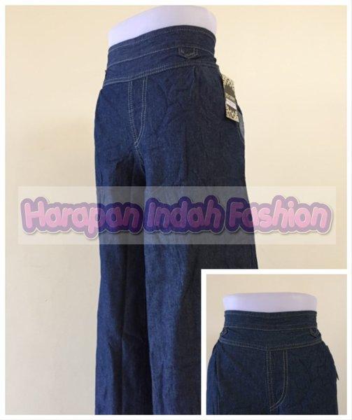 Celana Panjang Kulot Wanita Bahan Jeans CK04