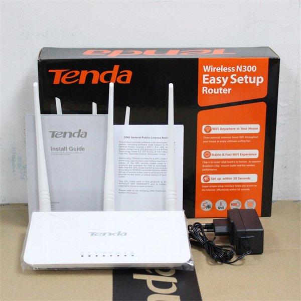 wireless modem router wifi adapter repeater tenda n300 model f3 antena 3