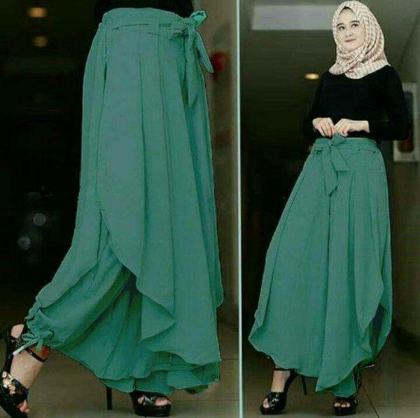 celana kulot model baru celana rok wanita muslim fashion celana panjang