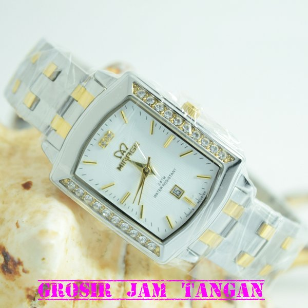 JAM TANGAN WANITA SIMPLE MEWAH ELEGAN MIRAGE ORIGINAL GARANSI ( GROSIR ALEXANDRE CHRISTIE EXPEDITION ALBA SEIKO SWISS ARMY )