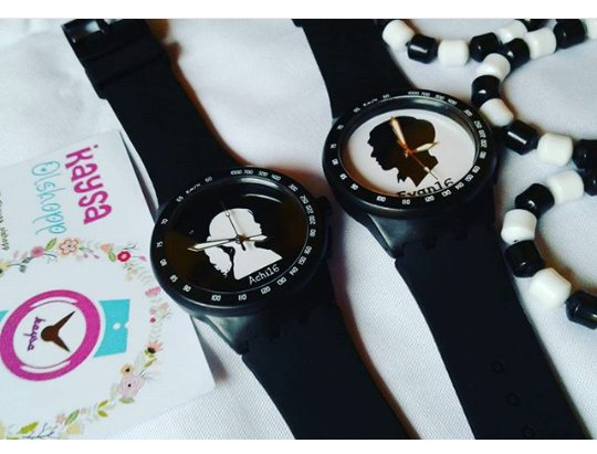 Jam Tangan Couple Custom/ Nama/Gambar