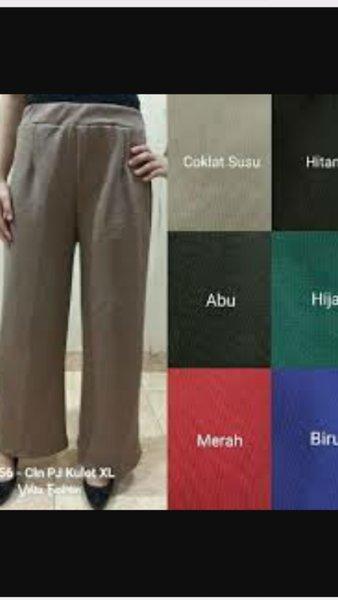 New New  celana kulot polos panjang