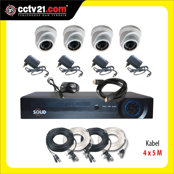 PROMO PAKET 4 CH FULL HD 2.0MP CCTV  &  DVR AHD FULL HD HYBRID  3 in 1 EDS-1104