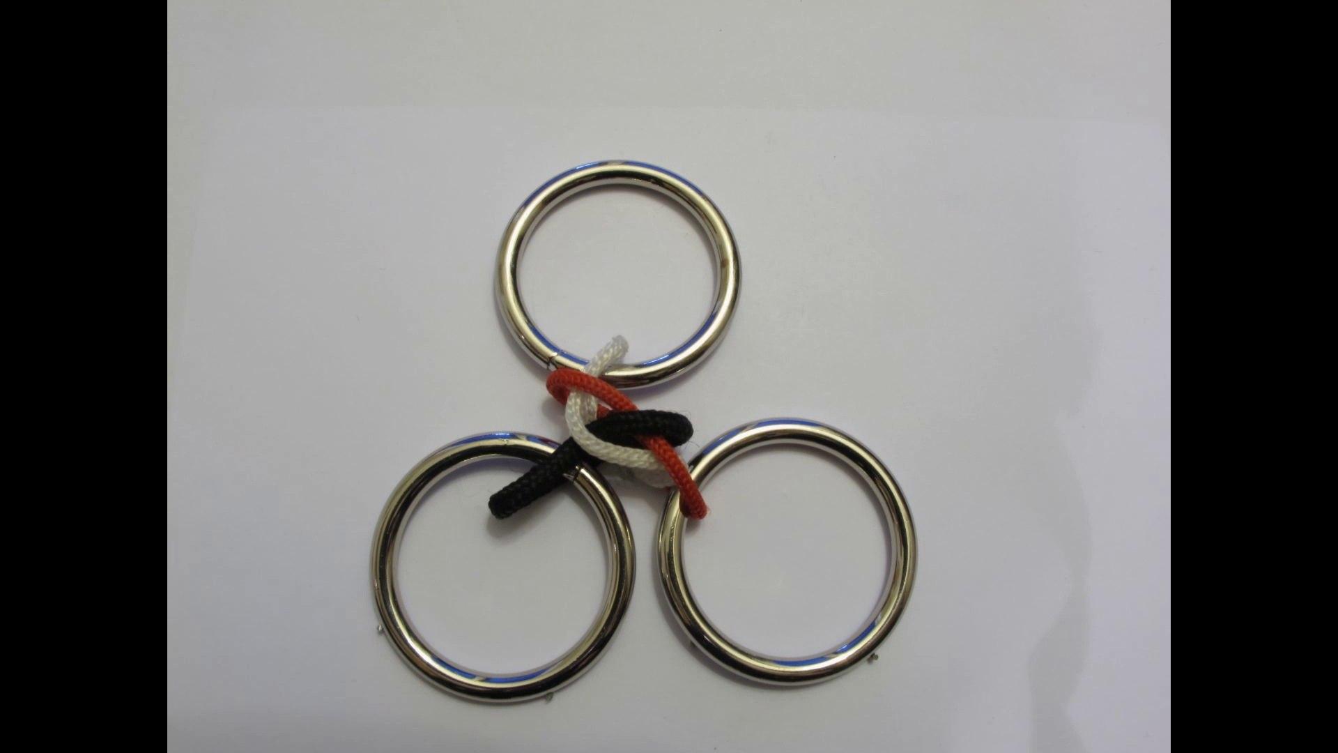 casse tete des 3 anneaux en animation