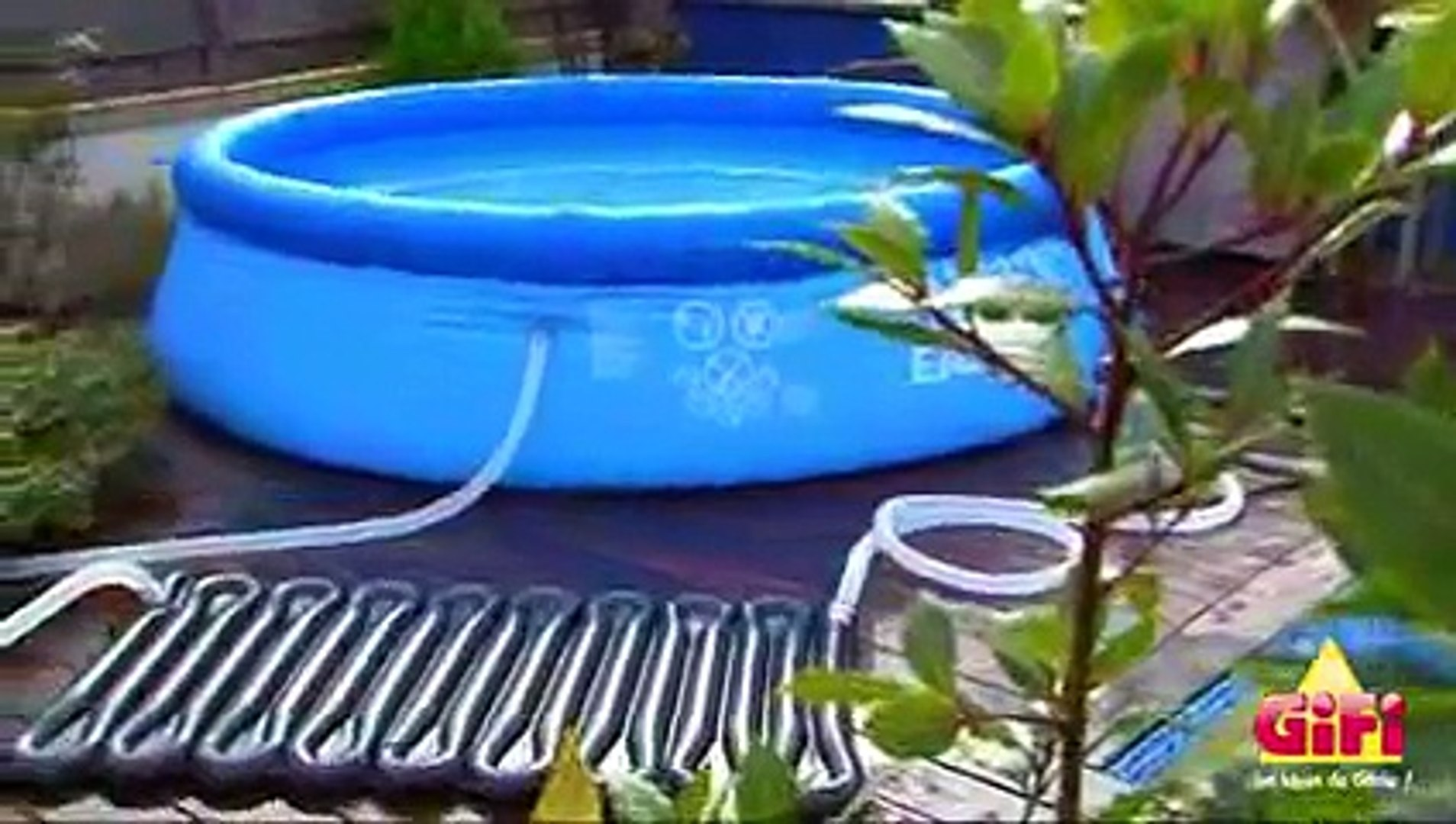 chauffage solaire piscine autoportante
