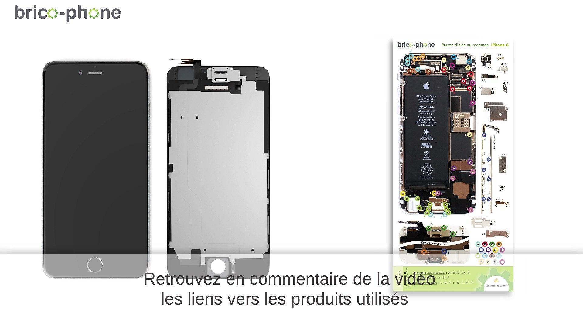 tuto reparer iphone 6 remplacer la vitre et le lcd avec un bloc ecran complet hd 3d
