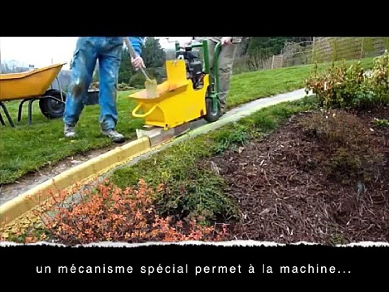 machine a bordures en beton moule en continu pour jardins et allees