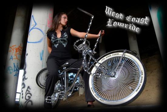 Hot lowrider girls on bikes