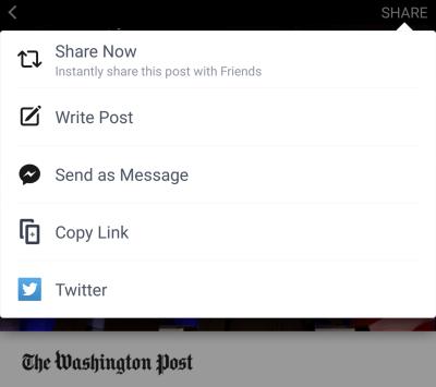 Worthless sharing options