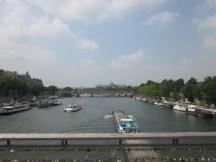 The Seine Me from the Passerelle Léopold-Sédar-Senghor.