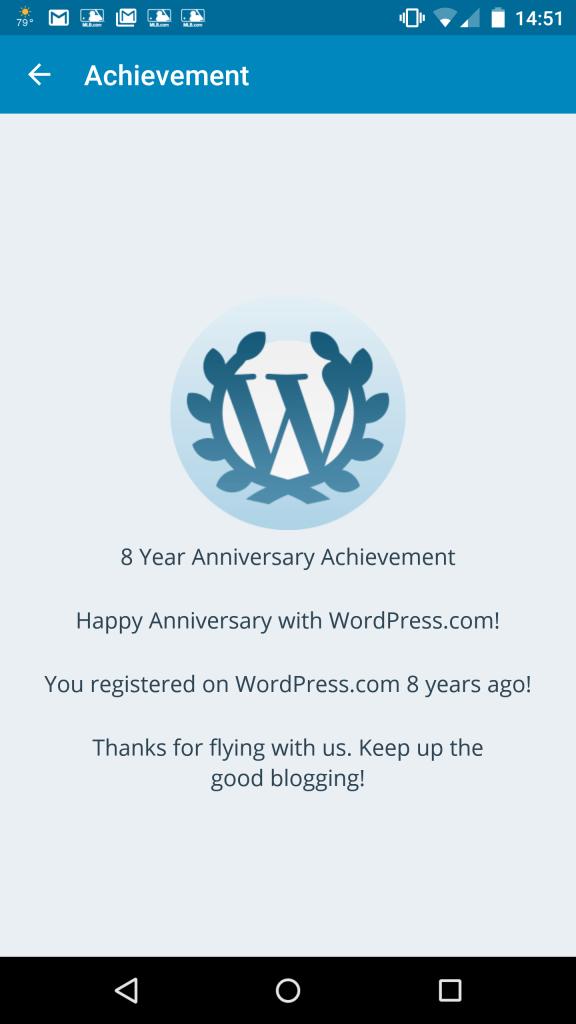 Eight years on WordPress.com