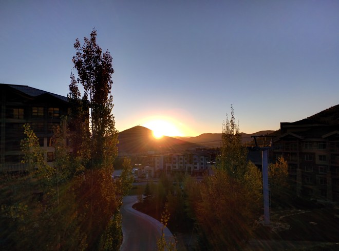 Sunrise over Park City, as seen from The Canyons