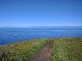The mainland from the Northern Bluff Trail
