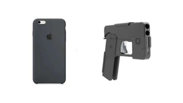 A la izquierda, un iPhone y, a la derecha, la nueva pistola