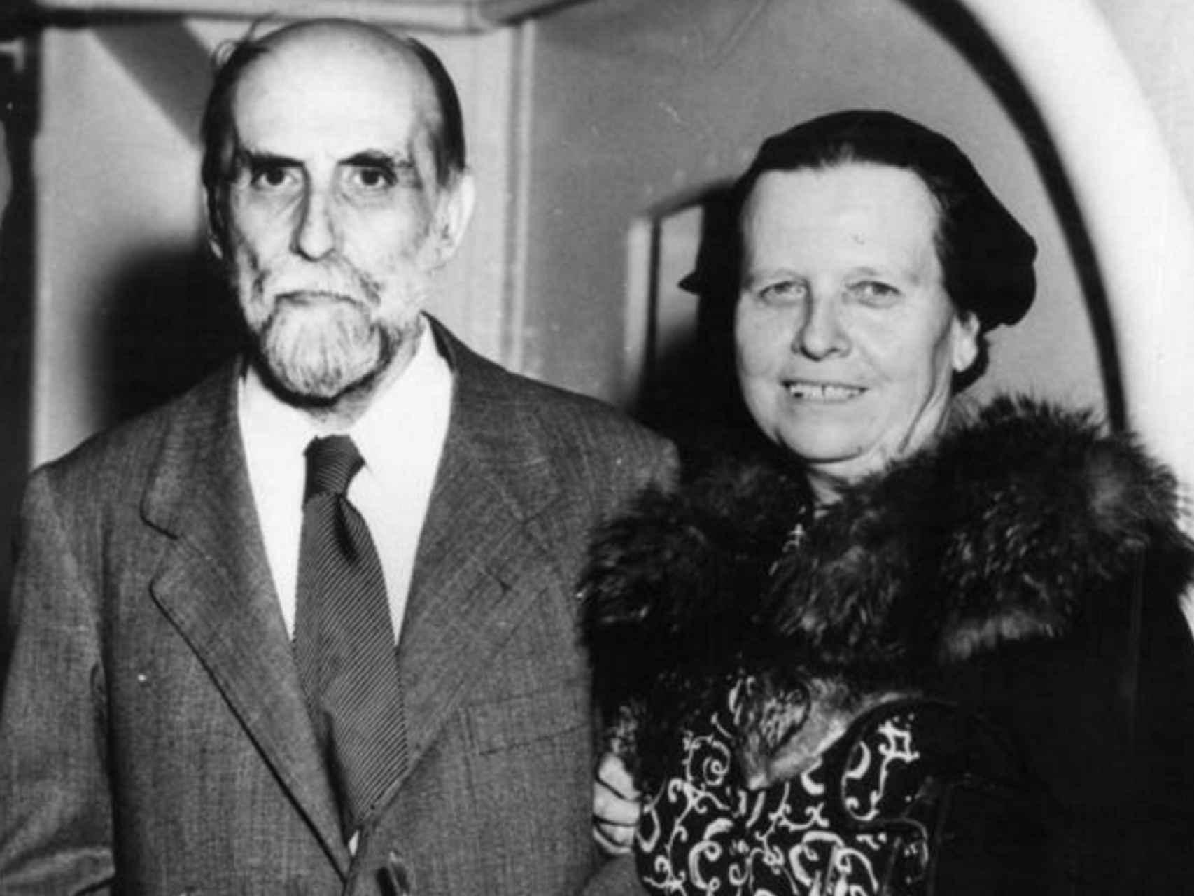 Zenobia Camprubí y Juan Ramón Jiménez.