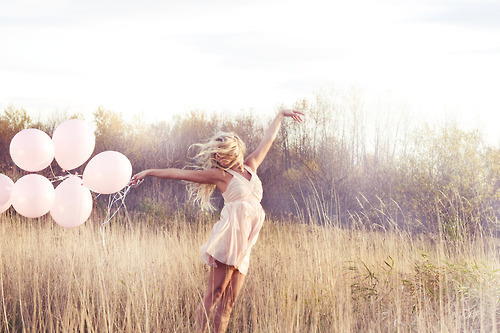 art, balloons, beautiful, blonde, cute